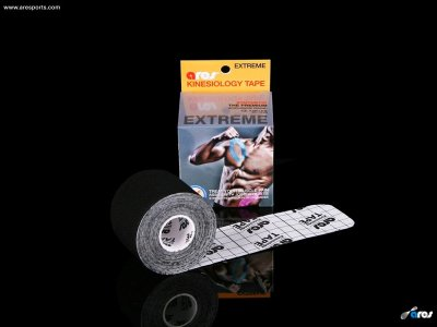 ARES EXTREME Kinesio Tape - METÁL FEKETE