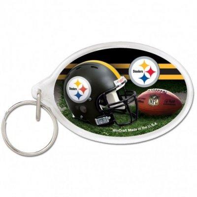 Steelers - Ovális akril kulcstartó