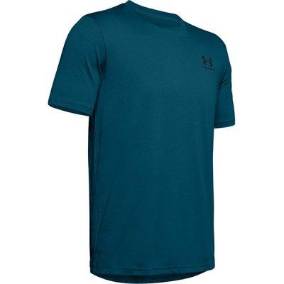 UA Sportstyle Left Chest póló - Sötét Kék