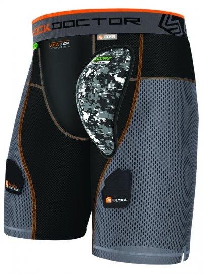 Ultra PowerStride Jégkorong Short + AirCore Hard Cup - Fekete