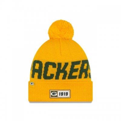 Packers - ONF19 NUMBER Kötött téli sapka - Sárga