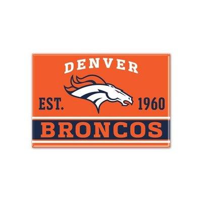 Broncos - Fém Mágnes 9cm x 6cm
