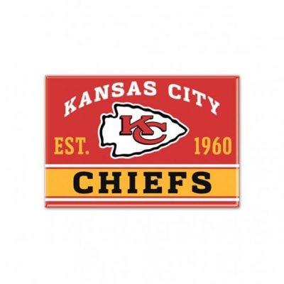 Chiefs - Fém Mágnes 9cm x 6cm