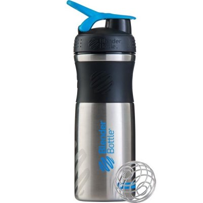 Sportmixer Stainless Steel 820ml - Black/Cyan