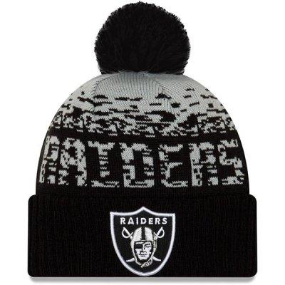Raiders -  Sport Cuff kötött bojtos téli sapka
