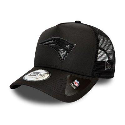 Patriots - Tonal Black Trucker Cap